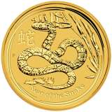 Lunar Snake Gold Bullion Coin 1/2 Ounce