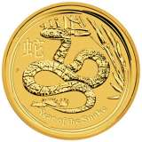 Lunar Snake Gold Bullion Coin 1/4 Ounce